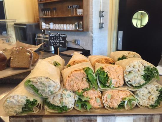 Rumford, RI: Vegan Chickpea Wraps!