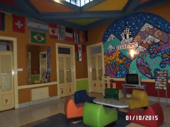 Malbec Hostel: lobby de la recepcion