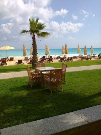 Sidi Abdel Rahman, Египет: Amazing view of the beach from our premier ground room