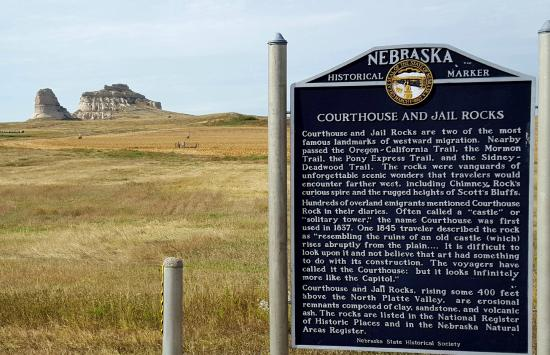 Bridgeport, NE: historical sign