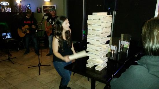 Giant Jenga - Picture of Creekside Bar & Grill, Calgary ...