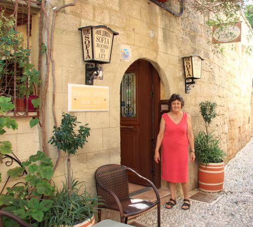 Sofia Pension : Our gracious hostess, Sofia
