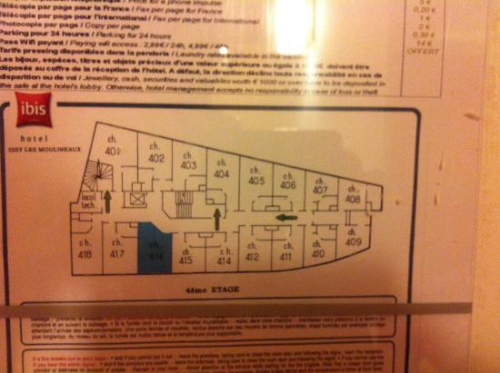 Ibis Paris Porte de Versailles Mairie d'Issy : Distribución habitaciones 4to piso
