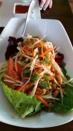 Thai Dishes Papaya Salad