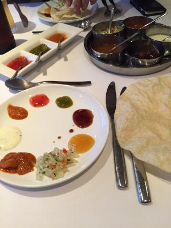 Mr India: Lovely curry also the best selection of chutneys I've ever had with my popadoms