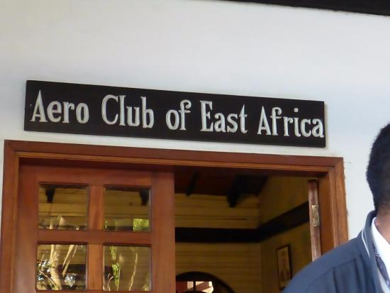 Aero Club of East Africa Restaurant: Entry door to Aero Club of East Africa
