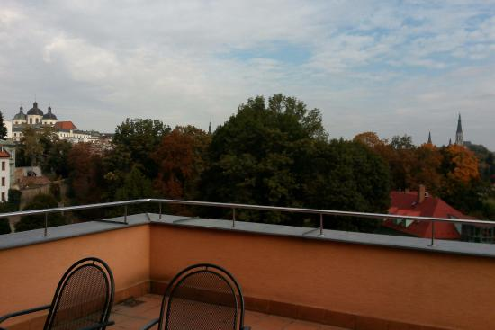 Hotel Alley Olomouc: View from the enormous balcony