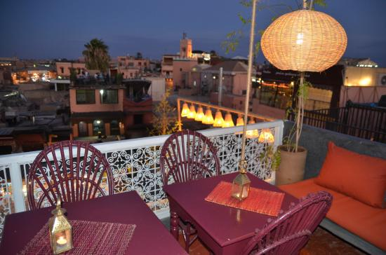 Cafe Guerrab: 2 eme terrace  cafe  guerrab marrakech
