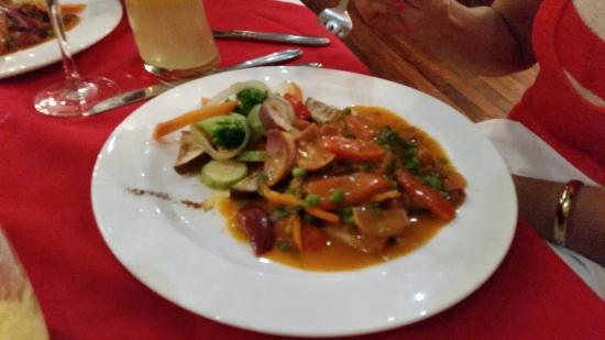 Puntarenas: Cena familiar con mis tíos panameños. Deliciosa la cena y los mariscos fresco y riquísimo
