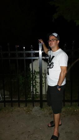 A Ghostly Encounter: My fiance with some energy by his arm