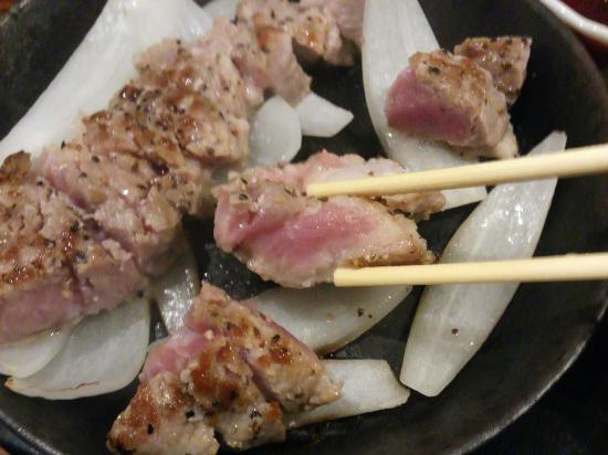 ミディアムレアっぽい焼き具合 豚肉なんですが Bilde Av Pork Steak Toichi I Hakata Tripadvisor