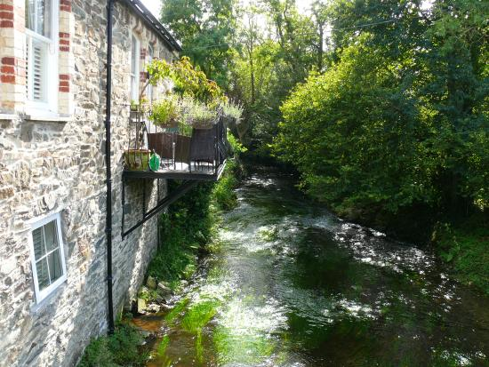 Ladock, UK: stream running by