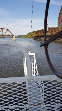 Dubuque, IA: View from prow of boat