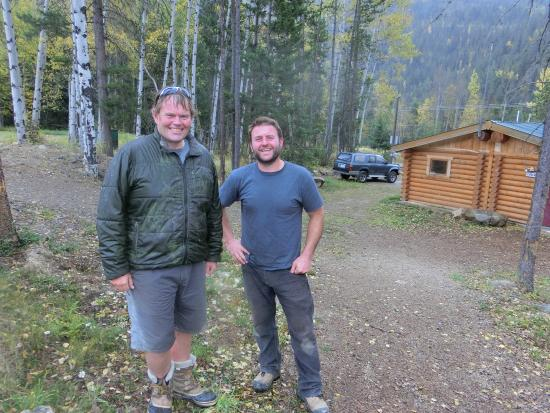 Panorama, Canadá: Our guide Chris  and Dean who wisely recommended our visit afterwards to Radium Hot Springs.