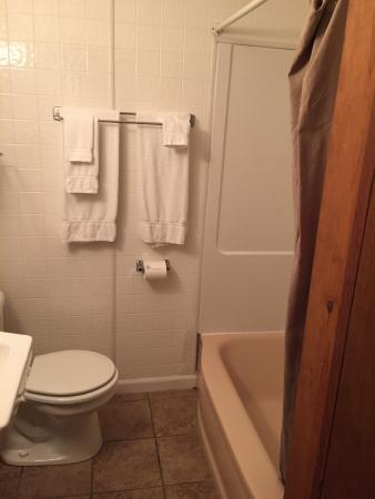Switzerland Inn: Diamondback Lodge bathroom