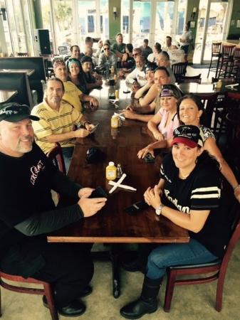 Pahokee, Floride : our group without food or drinks