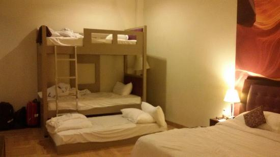 Kuta Central Park Hotel Interior Family Room For 5 Persons
