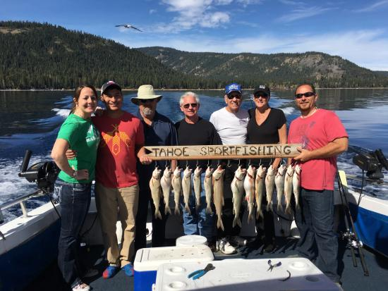 Catch of the day picture of tahoe sport fishing south for Tahoe sport fishing