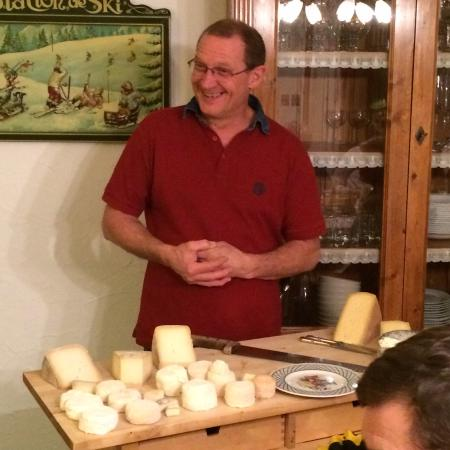 Le Grand Chalet: Luc and his cheese cart