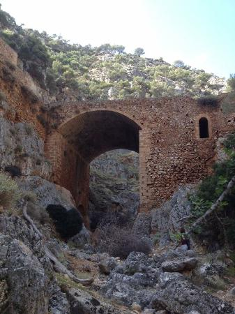 Gouverneto Monastery: Huge bridge to nowhere.