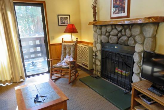 Idyllwild, Kalifornien: Quiet Creek Inn: cabin #10 living room