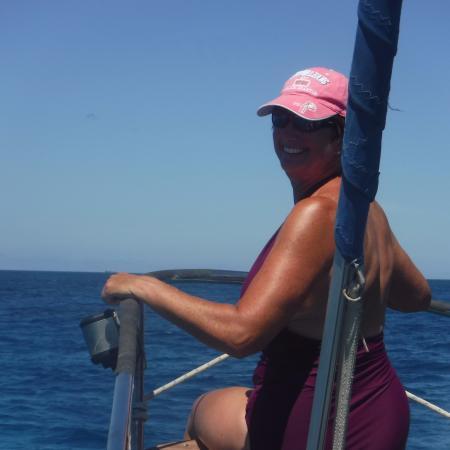 bahía de Simpson, St. Maarten: Best seat on the boat!