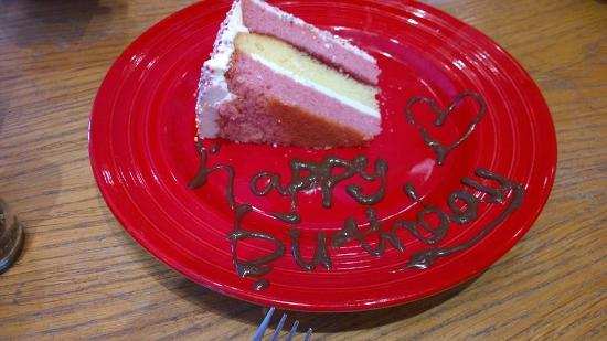 TGI Fridays Free Slice Of Birthday Cake