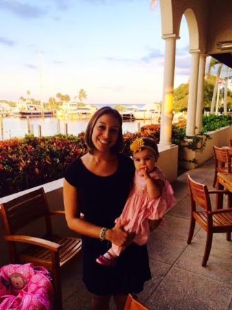 Portfino Restaurant and Grill at Longboat Key Club & Resort: Portofino's with little Caroline