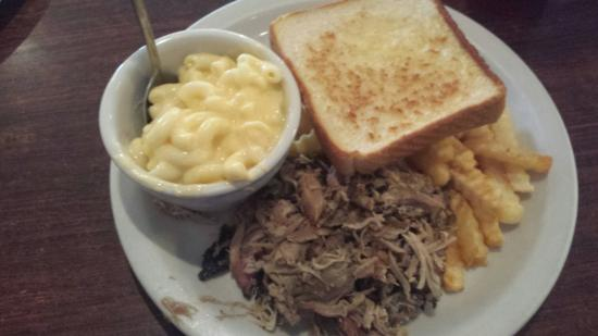 Chickamauga, GA: Pork plate (prior to sauce)