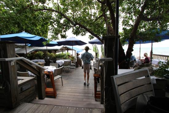 Back Deck - Picture of Louie's Backyard, Key West ...
