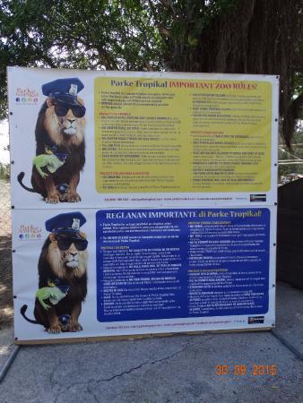 Curacao Zoo: Voor de ingang