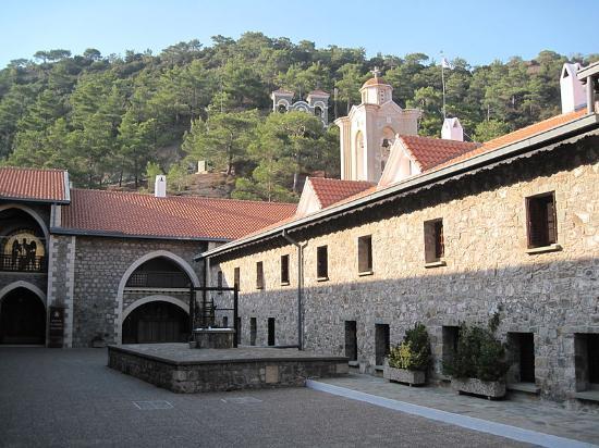 Kykkos Monastery Troodos: The Kykkos Monastery - Exterior view, Cyprus