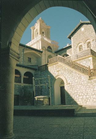 Kykkos Monastery Troodos: The Interior view of Kykkos Monastery, Cyprus