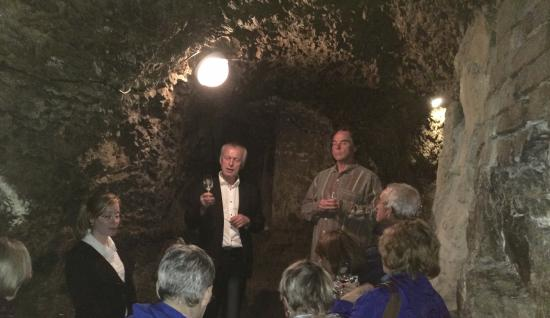 Slavonice, Tschechien: Wine tasting presentation in the cellar