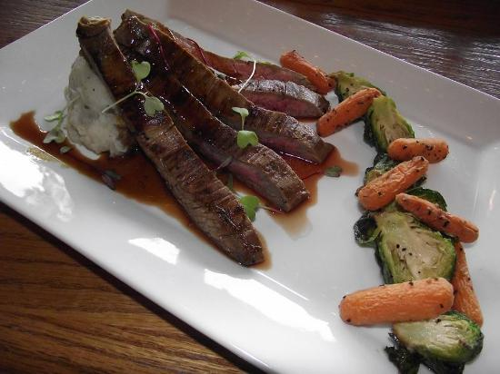 Ten Mile, TN: Our delicious flank steak with Roasted carrots and brussels