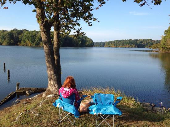 Arkansas: Breakfast overlooking Storm Creek lake