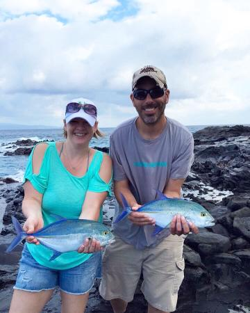 Maui S Fishing Guides Our Double Header Catch Of Bluefin Trevally