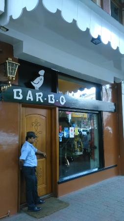 The Entrance On Park Street Picture Of Bar B Q Restaurant