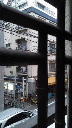 Taito Ryokan : Window view from room upstairs.