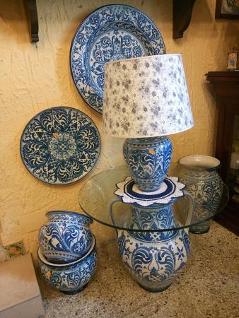 Complementi D Arredo In Ceramica.Complementi D Arredo Merletto Blu Foto Di Ceramiche