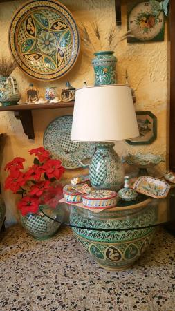 Tavoli Da Giardino Ceramica Caltagirone.Base Da Tavolo Foto Di Ceramiche Artistiche Giuseppe Di Martino