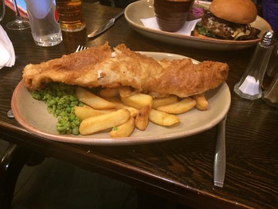 The Saracens Head: Fish (Whale) and Chips