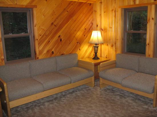 Claysburg, Pensilvania: Fisher Cabin Living Area