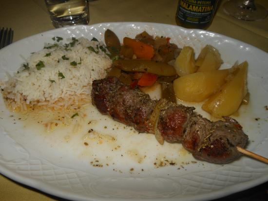 Restaurant Mythos Fisch und Lamm: Lamb souvlaki