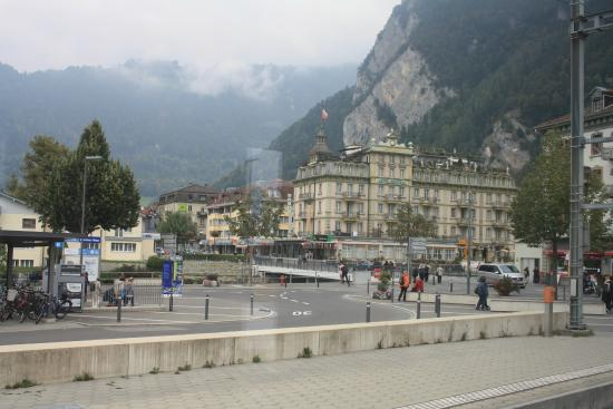 Hotel Central Continental: View of Hotel from Interlaken West Station
