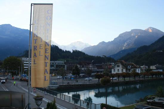 Hotel Central Continental: View of Jungfrau from room balcony