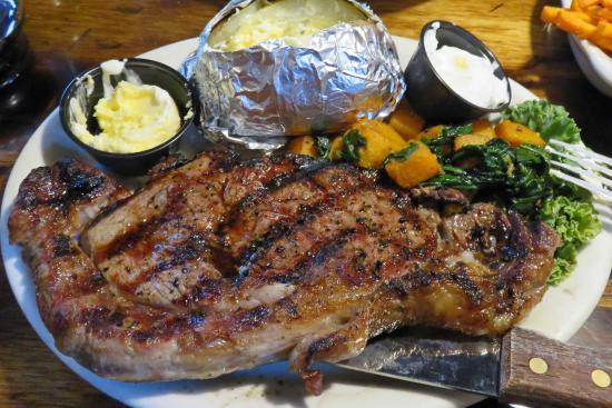Idyllwild, CA: Jo'an's Restaurant & Bar:  rib eye steak