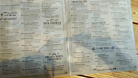 Capello's: the disgusting state of the menu and the HIGH prices