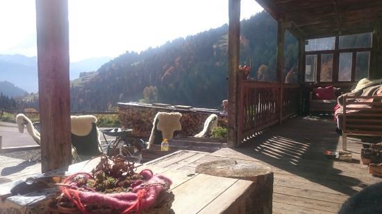 Berghotel Wanna: Aussicht vom Wanna-Eingangsbereich
