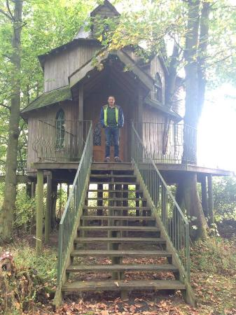 Letham, UK: Treehouse, from outside.